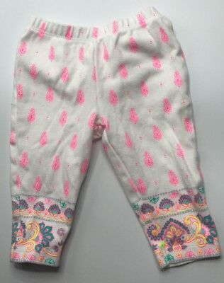 Carters 6 Months Girls Pink & White Cotton Pants