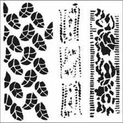6 by 6-Inch Climbing Vine Crafters Workshop Template