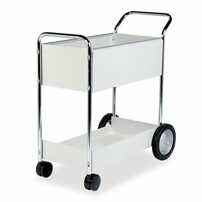 Fellowes 40922 Steel Mail Cart, 150-Folder Capacity, 20w x 40-1/2d x 39h, Dove