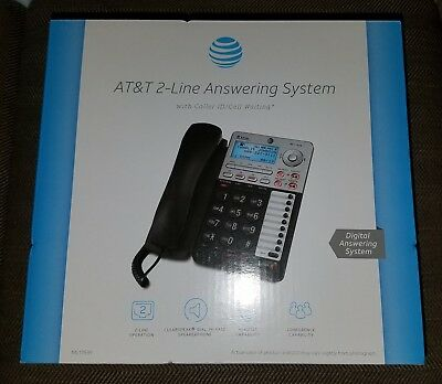 Brand New At&t 2-Line Phone Answering System Ml17939 With Caller Id Call Waiting