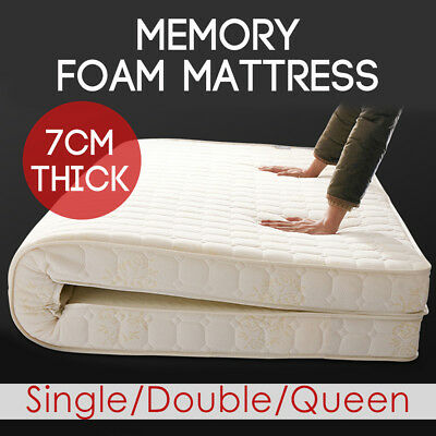 Bedding Memory Foam Mattress Topper Breathable Fabric Underlay Cover S D Q Sizes