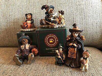 BOYDS BEARS FIGURINES Halloween Collection 4 Item Lot Sale