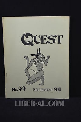 QUEST (for the Magical Heritage of the West) No.99 September 1994