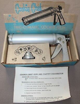 Vintage Cookie Chef Trig-O-Matic Cookie Pastry Gun Icing Decorator Complete