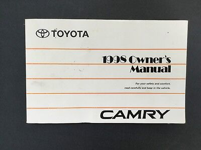 1998 toyota camry owners manual 10 00 picclick rh picclick com toyota camry 1998 owners manual pdf 1998 Toyota Camry Maintenance Schedule