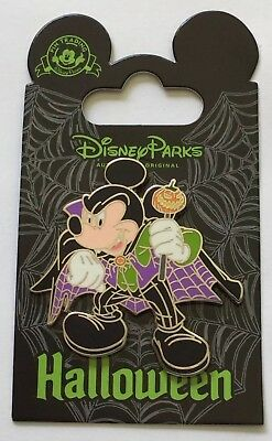 Disney DLR 2015 Mickey As Vampire With Cane Halloween Pin (256)