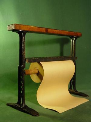 """Antique General Store 17"""" Paper Cutter With Vintage Paper Roll"""