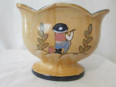 Antique Vase Bowl Made in Japan Beautiful Unique Shape Oval Circa 1930's
