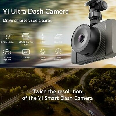 Xiaomi YI Ultra Dash Cam Full HD 2.7K Car Camera with MEMS 3-Axis G-Sensor