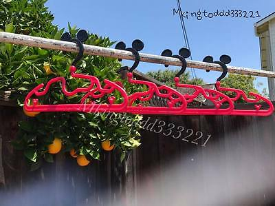 Set of 8pcs Disney Mickey Mouse Clothes Shirt Hangers Racks Red(Japan Edition)