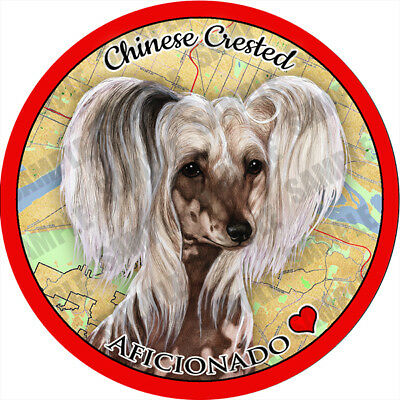 Chinese Crested Absorbent Porcelain Dog Breed Car Coaster