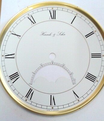 Hermle-  Mantel  clock dial  with glass 180 mm  with moon phase slot