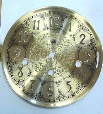 Sligh-Hermle- Mantel  clock dial  with glass 180 mm for 1050 movement