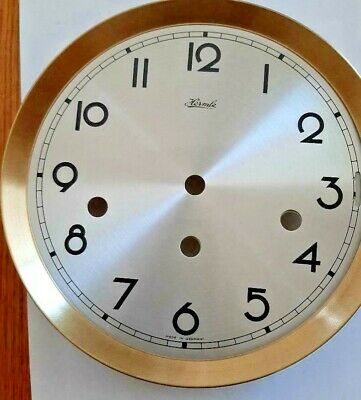Hermle- clock dial  180 mm for 351-1051 movement 2 tone brass and silver Arabic