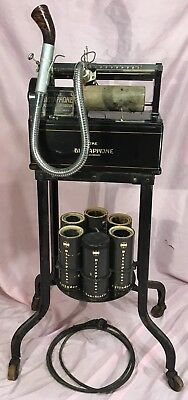 Nice Antique Dictaphone Model 10 With Rack & Cylinders - Works - All Original