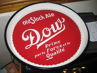 RARE Dow Old Stock Ale beer enamel coated PORCELAIN  metal tray  QUEBEC