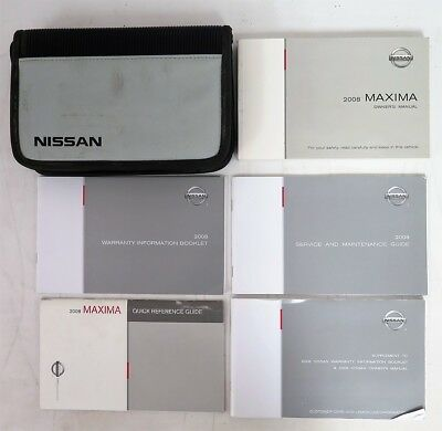 2008 nissan maxima owners manual