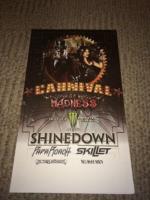 Carnival Of Madness Shinedown Sevendust Skillet In This Moment LtdEd Tour Poster