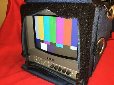"Sony Trinitron PVM-9L3 Color CRT 9"" Production Monitor with Portabrace Case"