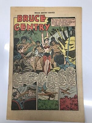 Rare 1949 Superior BRUCE GENTRY #7 *Great Action and Adventure Comic! No Cover