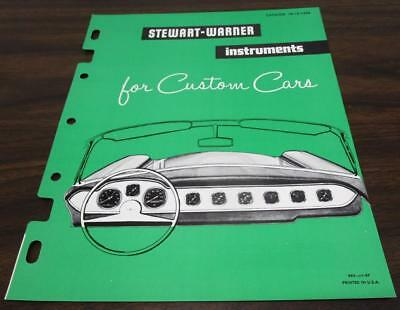 Vintage 1957 Stewart Warner Instruments For Custom Cars Dealer Catalog O