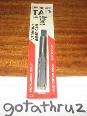 Vermont American 14MM 1.25 Tap New Professional Quality U.S.A. made No. 6452 wFS