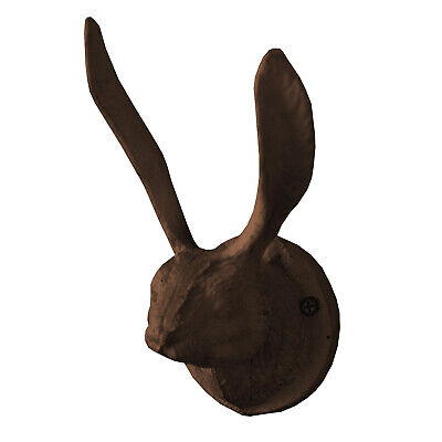Kalalou Cast Iron Rabbit Wall Hook - Rustic