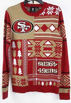 Nfl Ugly Quirky Christmas Xmas Crew Neck Sweater San Francisco 49ers