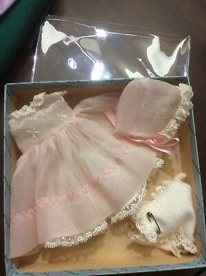 Madame Alexander LITTLE GENIUS 1950s 4 pc pink organdy outfit MINT