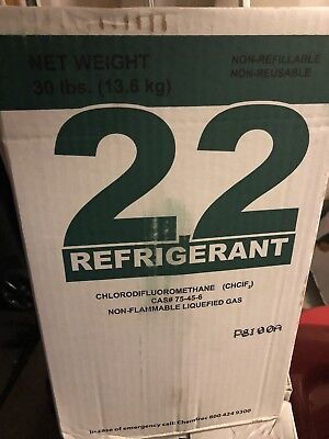 R-22 R22 Freon Refrigerant Full 30lbs MADE IN USA NEW SEALED