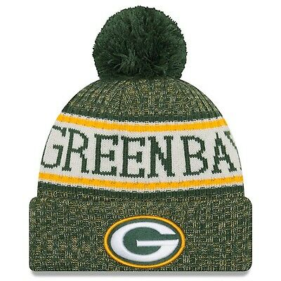 593b3b005a0fc4 Green Bay Packers New Era 2018 Official Sideline Sport Knit Hat - Green