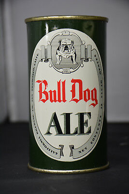 Bull Dog Ale flat-top can, California Brewing San Francisco *UNCOMMON VARIATION*