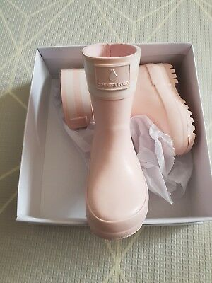 Country Road Baby Pale Pink Gumboots size 19 BNWT