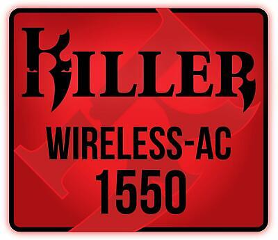 Killer Wireless AC 1550 + Bluetooth 5.0 ; WLAN M.2 2230 Wifi Card Adapter