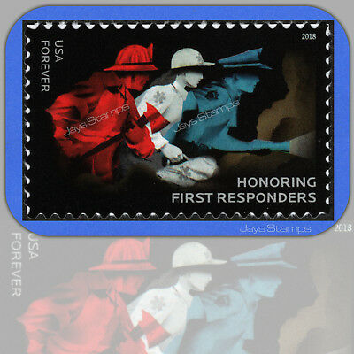 2018  HONORING FIRST RESPONDERS Mint USPS Forever®  Individual Stamp Cat # 5316