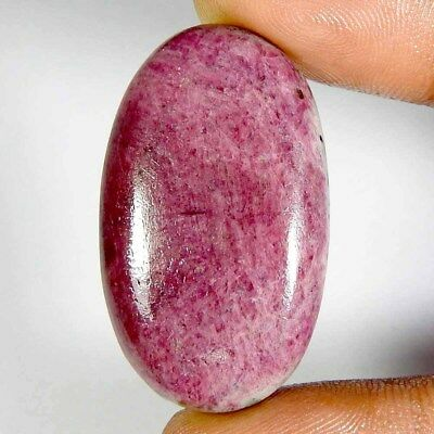 61.25Ct 100% Natural Red Ruby Zoisite Oval Cabochon(36x21x6Loose Gemstones