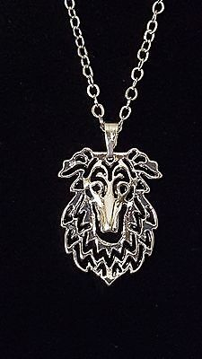 """Borzoi Russian Wolfhound Cute necklace 18"""""""