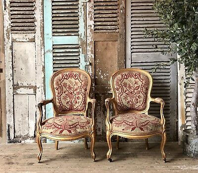 Pair Of Antique French Louis Chairs