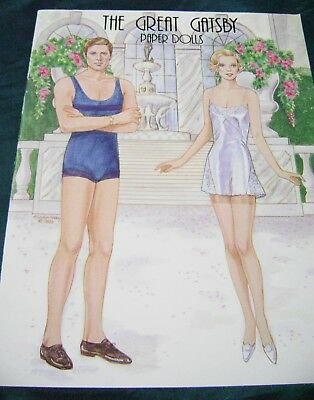 VTG PAPER DOLL CONVENTION 1998 GREAT GATSBY by MARILYN HENRY  ORIGINAL!!!