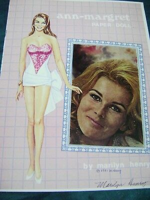 VTG PAPER DOLL CONVENTION 1991 ANN MARGARET by MARILYN HENRY  SIGNED ORIGINAL