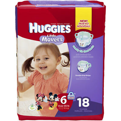 MCKDS Baby Diaper Huggies® Little Movers Tab Closure Size 6 Disposable Heavy