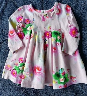 Gorgeous Ted Baker Baby Girls Long Sleeve Dress - 3-6 Months