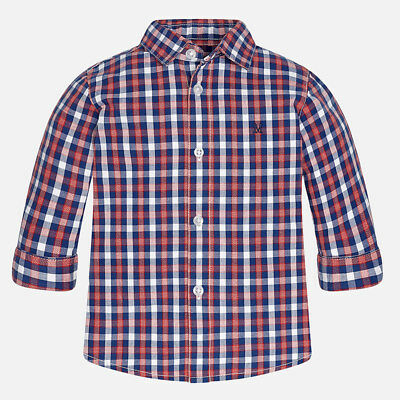 Mayoral 6 Months Baby boy checkered long sleeve shirt 2141 RRP £18
