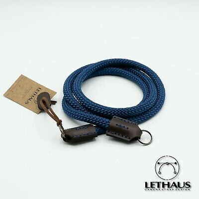 Lethaus - Rope Camera Strap With Leather Connector - (Darkblue / Brown)