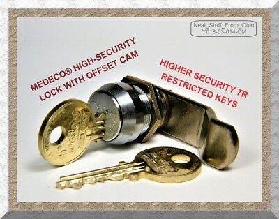 Medeco® Lock, High-Security Offset-Cam Lock With Two Restricted Keys