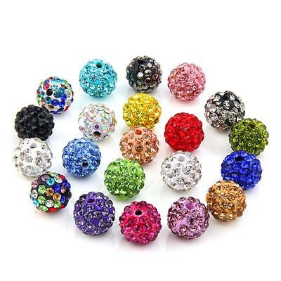 Ball Earrings 14 Pairs Set Brand Micro Disco Clay Crystal Stud For Women Jewelry