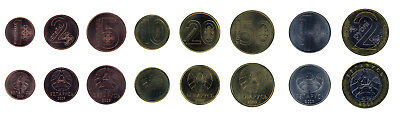 Belarus 1 - 50 Kopeks - 2 Rouble 8 Pieces - PCS Coin Set, 2009, Mint