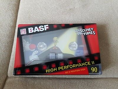 Cassette K7 audio vierge BASF collector Looney Tunes - RARE - NEUF