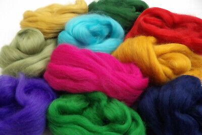Merino Wool Tops Mixed Colours Roving Felting Spinning 100g pack Art and Crafts