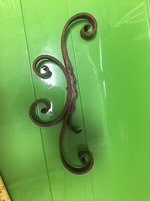 Antique Architectural Salvage Wall Bracket Mount Support Wrought Iron  Cast